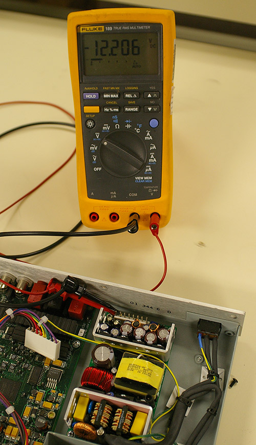 Measuring -12V output without Load